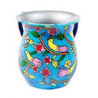 Emanuel Painted Aluminum Washing Cup-- Birds