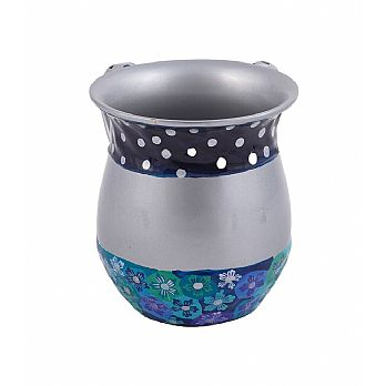 Emanuel Metal Wash Cup w/ Painted Fimo-- Blue