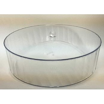 Lucite Round Matzah Box with Cover Large