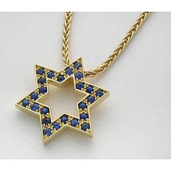 Star of David - Blue Sapphires