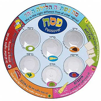Laminated Seder Plate with Attached Liners