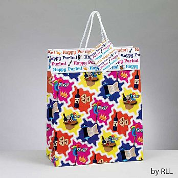 PURIM GIFT BAG WITH GIFT TAG, 10""