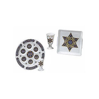 Porcelain Passover Seder Set - Star of David
