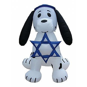 7' Inflatable Dalmation Puppy Dog - Star of David