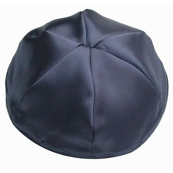 Satin Kippot with Optional Personalization - Navy
