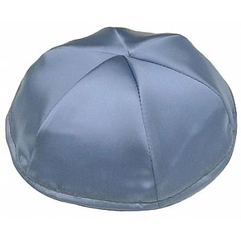 Satin Kippot with Optional Personalization - Sky Blue