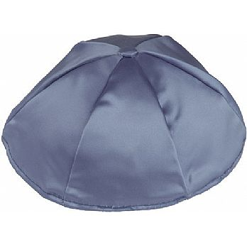 Satin Kippot with Optional Personalization - Wedgewood