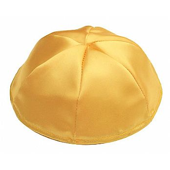 Satin Kippot with Optional Personalization - Yellow