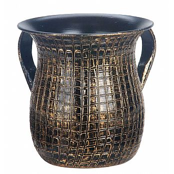 Artistic Wash Cup - Black with Gold Highlights