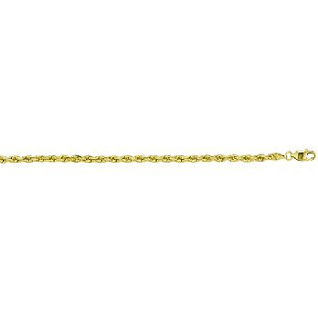 14K Yellow or White Gold Heavy-Weight Cut Rope Chain
