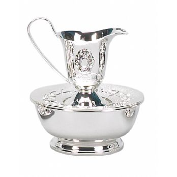 Silver Plated Mayim Achronim with Basin
