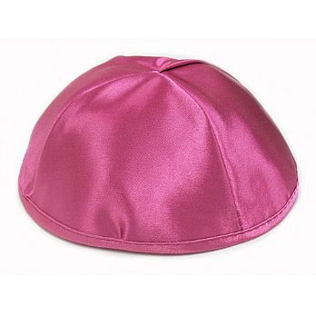 Premium Satin Kippot - Hot Pink