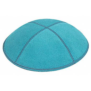 Turquoise Suede Kippot