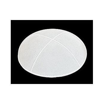 White Suede Kippot