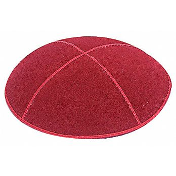 Red Suede Kippot