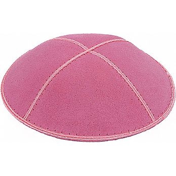 Hot Pink Suede Kippot