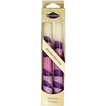 2 Pack Safed Taper Candle - Snow White Drops