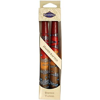 2 Pack Safed Taper Candle - Rainbow Maroon
