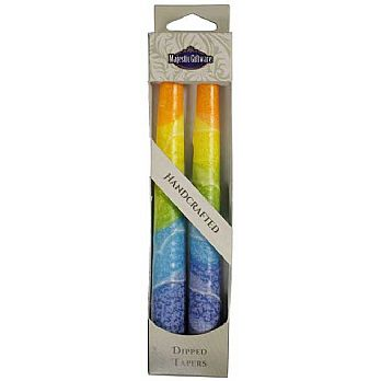 Long Twin Pack Tappered Shabbat Candles - Warm