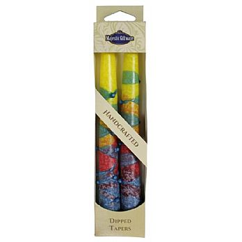 2 Pack Safed Taper Candle - Sunrise Yellow