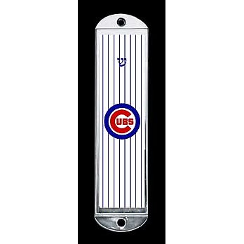 Metal Mezuzah Cover - Chicago Cubs
