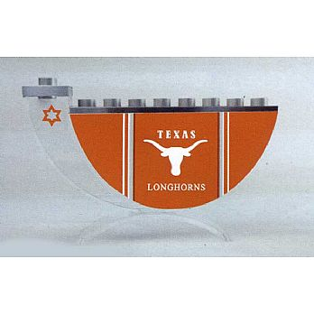 Acrylic and Steel Hanukkah collectors Menorah - Texas Longhorn