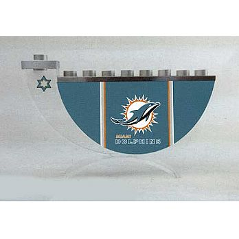 Acrylic and Steel Hanukkah collectors Menorah - Dolphins
