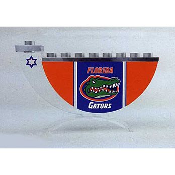Acrylic and Steel Hanukkah collectors Menorah - Gators