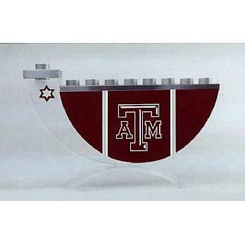 Acrylic and Steel Hanukkah collectors Menorah - Texas A&M