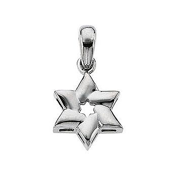 Small Thick & Puffy Star of David Necklace