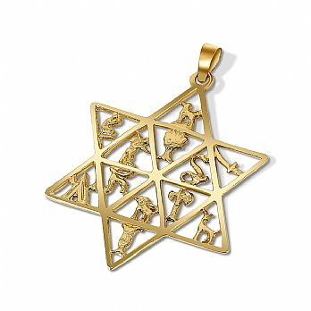 14K Star of David Pendant - 12 Tribes