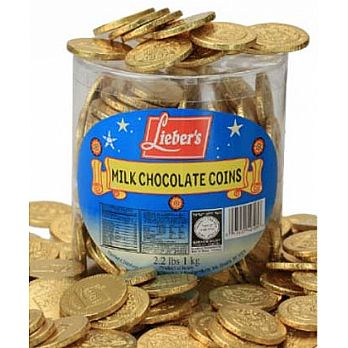 Loose Milk Chocolate Coins - Tub of 325