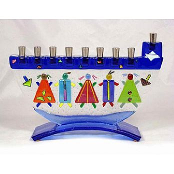 Fused Glass Menorah - Children of Israel