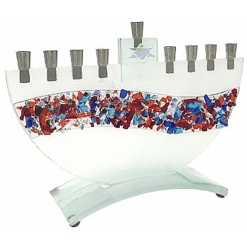 Tamara Baskin Jewel Tone River Menorah 10 x 7