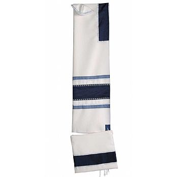 Elegant Designer Tallit Set - Blues