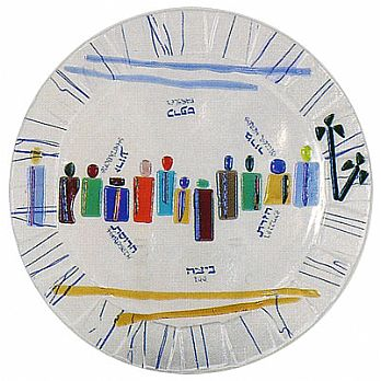 Fused Glass Seder Plate - Exodus