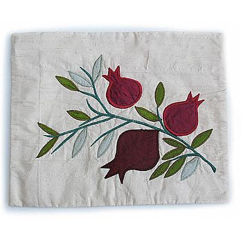 Raw Silk Tallit & Tefillin Bag - Pomegranate