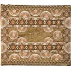 Embroidered Raw Silk Tallit Bag by Emanuel - Stars Gold
