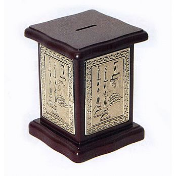 Rosewood Charity Box - Silverplated Design