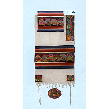 Emanuel All Embroidered Tallit Set - 12 Tribes