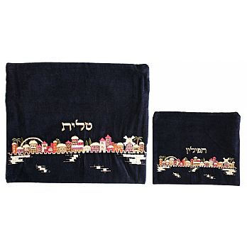 Embroidered Tallit and Tefilin Bags