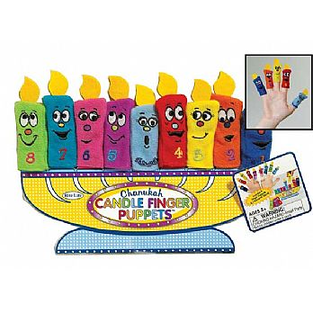 Hanukkah Candle Fabric Finger Puppets
