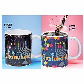Hanukkah Ceramic Color Changing Mug