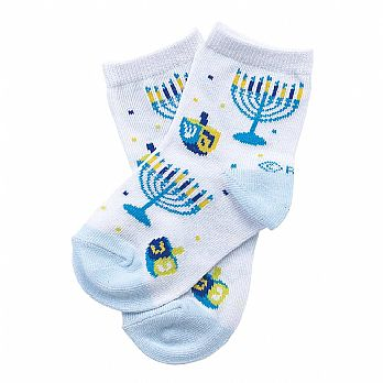 Hanukkah Design Fun Socks - Baby