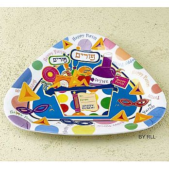 Melamine Purim Triangle Plate