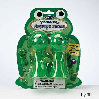 PASSOVER JUMPING FROGS, SET OF 2,