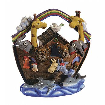 Ceramic Noah's Ark Charity Box by Emanuel