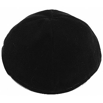 Velvet Lined Kippot - Black