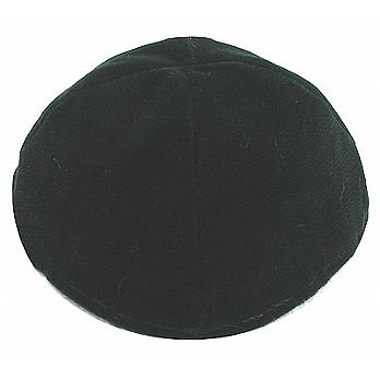 Velvet Lined Kippot - Green