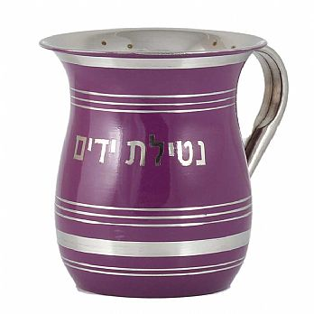 Stainless Steel Wash Cup with Color - Purple